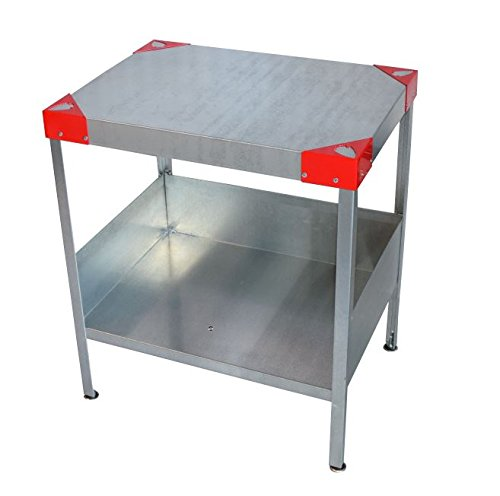 Man Cave End Table : Rmp galvanized man cave indoor outdoor end table red