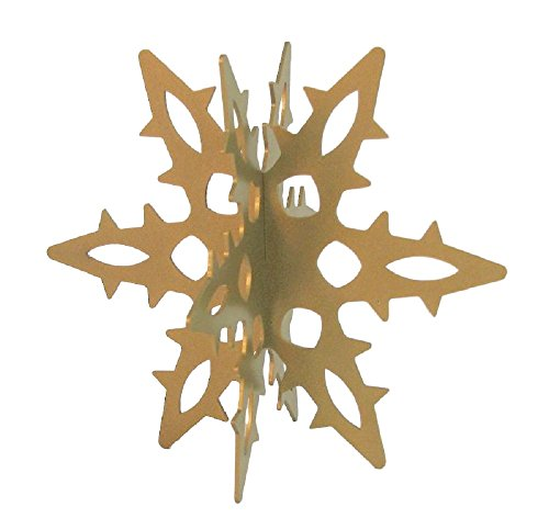 Snowflake 3D Slide-together Tabletop Centerpiece Christmas Decoration - Glistening Gold