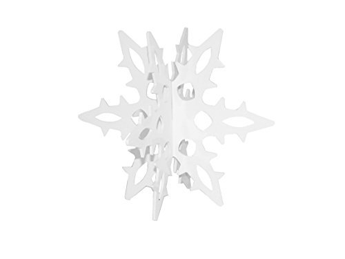 Snowflake 12 Ga. 3D Slide-together Tabletop Centerpiece Christmas Decoration - Blizzard White