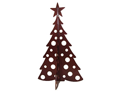 Large Christmas Tree 3D Slide-together Tabletop Centerpiece Christmas Decoration - Dark Cinnamon