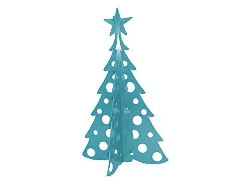 Large Christmas Tree 3D Slide-together Tabletop Centerpiece Christmas Decoration - Wintertime Teal