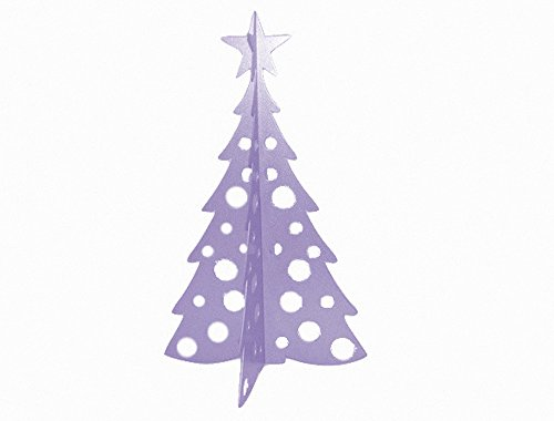 Large Christmas Tree 3D Slide-together Tabletop Centerpiece Christmas Decoration - Frosty Lavender