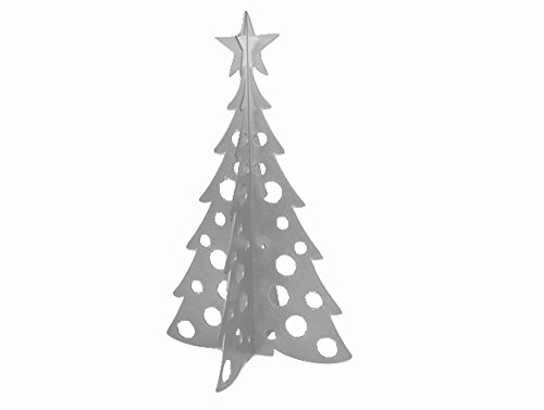 Large Christmas Tree 3D Slide-together Tabletop Centerpiece Christmas Decoration - Icy Silver