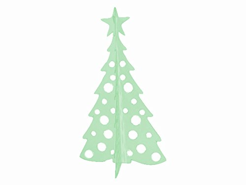Large Christmas Tree 3D Slide-together Tabletop Centerpiece Christmas Decoration - Creamy Mint