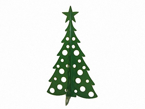 Large Christmas Tree 3D Slide-together Tabletop Centerpiece Christmas Decoration - Fir Green
