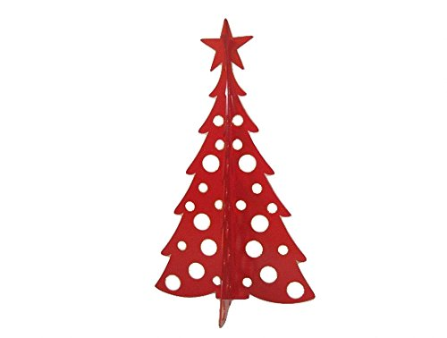 Large Christmas Tree 3D Slide-together Tabletop Centerpiece Christmas Decoration - Rudolph Red