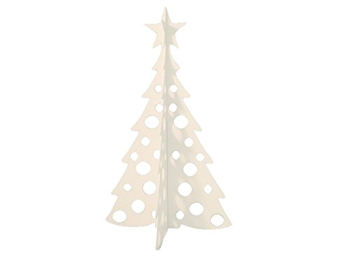 Large Christmas Tree 3D Slide-together Tabletop Centerpiece Christmas Decoration - Blizzard White