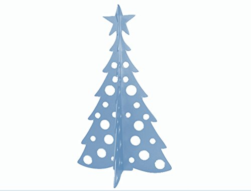 Large Christmas Tree 3D Slide-together Tabletop Centerpiece Christmas Decoration - Peaceful Blue