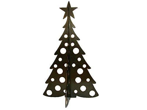 Large Christmas Tree 3D Slide-together Tabletop Centerpiece Christmas Decoration - Chestnut Bronze