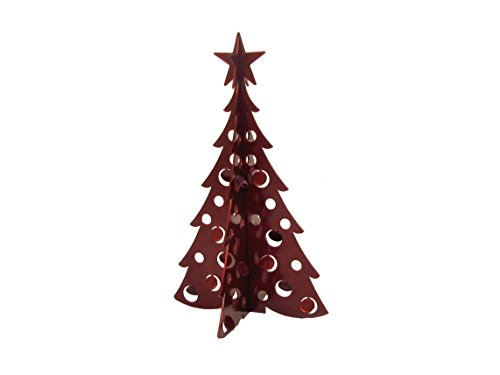 Small Christmas Tree 3D Slide-together Tabletop Centerpiece Christmas Decoration - Dark Cinnamon