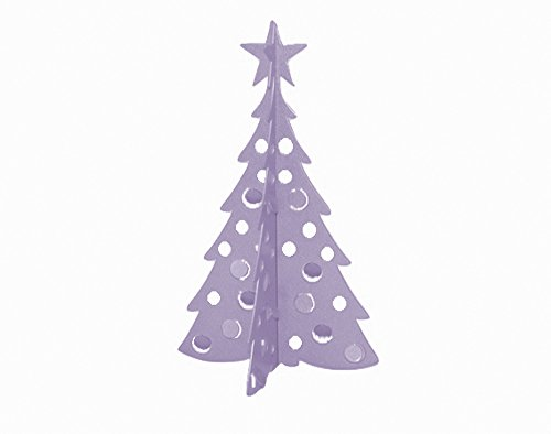 Small Christmas Tree 3D Slide-together Tabletop Centerpiece Christmas Decoration - Frosty Lavender