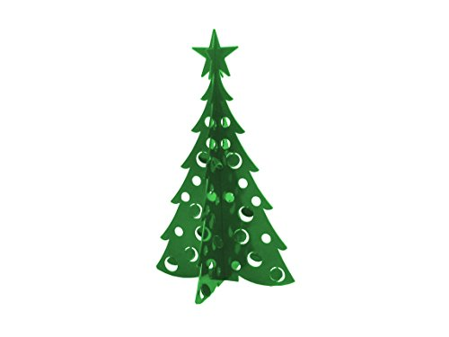 Small Christmas Tree 3D Slide-together Tabletop Centerpiece Christmas Decoration - Fir Green