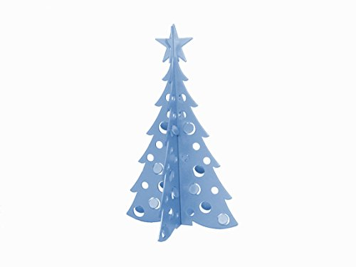 Small Christmas Tree 3D Slide-together Tabletop Centerpiece Christmas Decoration - Peaceful Blue