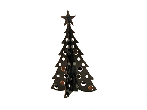 Small Christmas Tree 3D Slide-together Tabletop Centerpiece Christmas Decoration - Chestnut Bronze