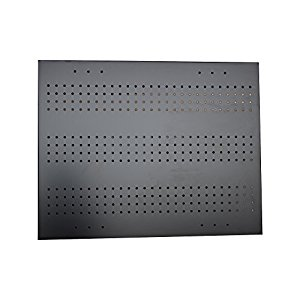 RMP Wall Mount Pegboard, Black Powder Coated Steel, 23
