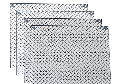 RMP Wall Mount Pegboard, Aluminum Treadplate, 23 Inch x 29 Inch - 4 Pack