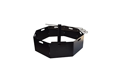 RMP Portable Campfire Ring With Center Stand And Skewers