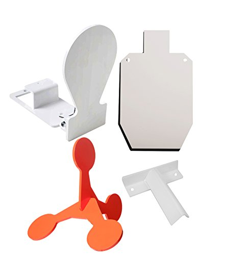 RMP Spring-Loaded, Orange Tube, White Silhouette & T-post Target Bracket Target Kit