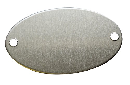 RMP Stamping Blanks, 1.164 Inch x 1.829 Inch Oval with Two Holes, Aluminum 0.063 Inch (14 Ga.) - 50 Pack