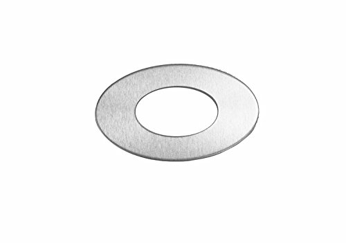 RMP Stamping Blanks, 1.829 Inch Oval Washer with 0.921 Inch Center, Aluminum 0.063 Inch (14 Ga.) -50 Pack