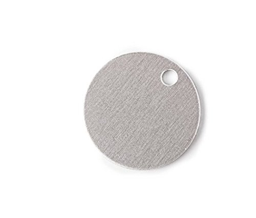 RMP Stamping Blanks, 9/16 Inch Round with One Hole, Aluminum 0.063 Inch (14 Ga.) - 50 Pack