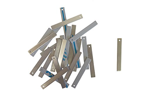 RMP Stamping Blanks, 1/4 Inch x 2 Inch Rectangle With One Hole, Aluminum .063