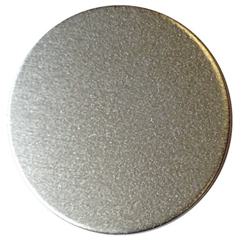 RMP Stamping Blanks, 1 Inch Round with No Hole, Aluminum 1/8 Inch Thick (8 Ga. Approx.) - 50 Pack