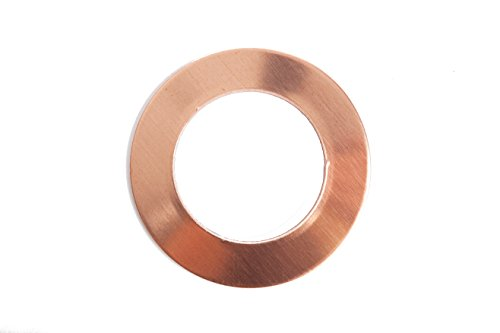 RMP Stamping Blanks, 1 Inch Round Washer with 5/8 Inch Center, 24 Oz. Copper 0.032 Inch (20 Ga.) - 10 Pack