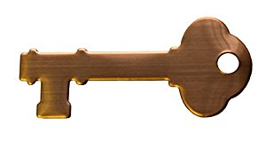 RMP Stamping Blanks, 0.872 Inch x 2 Inch Key with One Hole, 16 Oz. Copper 0.021 Inch (24 Ga.) -10 Pack