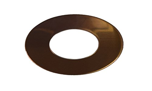 RMP Stamping Blanks, 1.829 Inch Oval Washer with 0.921 Inch Center, 16 oz. Copper 0.021 Inch (24 Ga.) - 10 Pack