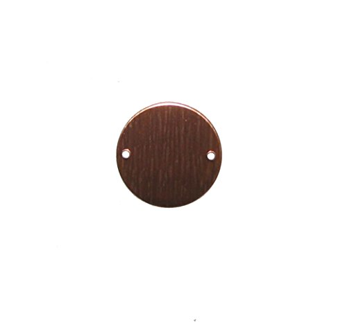 RMP Stamping Blanks, 3/4 Inch Round with Two Holes, 16 oz. Copper 0.021 Inch (24 Ga.) - 10 Pack