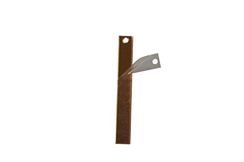 RMP Stamping Blanks, 1/4 Inch x 2 Inch Rectangle With One Hole, 16 Oz. Copper (.021) - 10/Pack