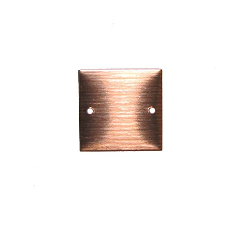 RMP Stamping Blanks, 3/4 Inch Square with Two Center Edge Holes, 16 oz. Copper 0.021 Inch (24 Ga.) - 10 pack