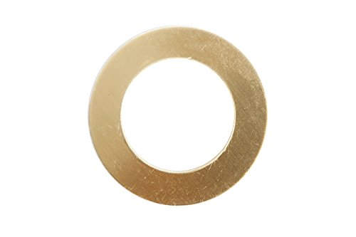 RMP Stamping Blanks, 1 Inch Washer with 5/8 Inch Center, Brass 0.021 Inch (24 Ga.) - 20 Pack