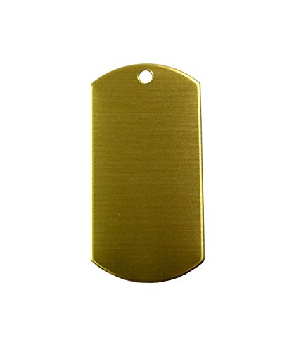 RMP Stamping Blanks, 1 Inch x 2 Inch Dog Tag with One Hole, Brass 0.021 Inch (24 Ga.) - 20 Pack