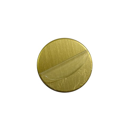 RMP Stamping Blanks, 2-1/2 Inch Round with No Hole, 260 Brass 0.032 Inch (20 Ga.) - 10 Pack