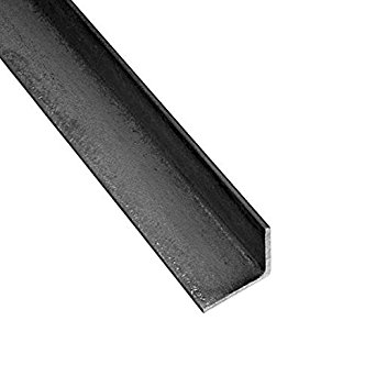 RMP Hot Roll Steel Structural Angle A36, 1-1/4 Inch x 1-1/4 Inch Leg Length x 1/4 Inch Wall x 12 Inch Length, Rounded Corners
