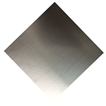 RMP 5052 H32 Aluminum Sheet 12 Inch x 12 Inch x 0.100 Inch Thick - PVC ONE SIDE