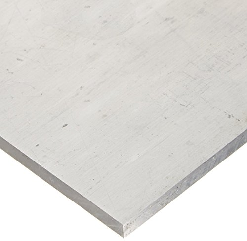 RMP 6061-T651 Aluminum Sheet, 12 Inch x 12 Inch x 1/2 Inch Thick