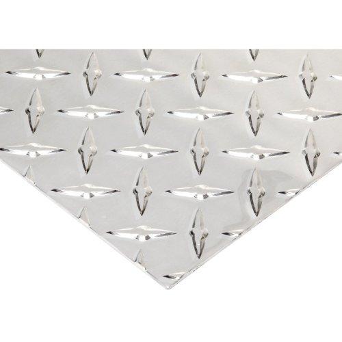 RMP 3003 H22 Aluminum Diamond Tread Plate, 12 Inch x 12 Inch x 0.100 Inch Thick, Brite Finish