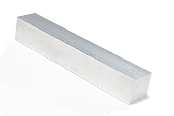 RMP 6061 T6511 Extruded Aluminum Square Bar, 2 Inch x 2 Inch x 12 Inch Length, Mill Finish