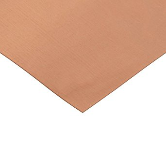 RMP 48 Oz. Copper Sheet - 12 Inch x 24 Inch x 0.064 Inch Thick, 1/8 Hd - PVC on ONE Side