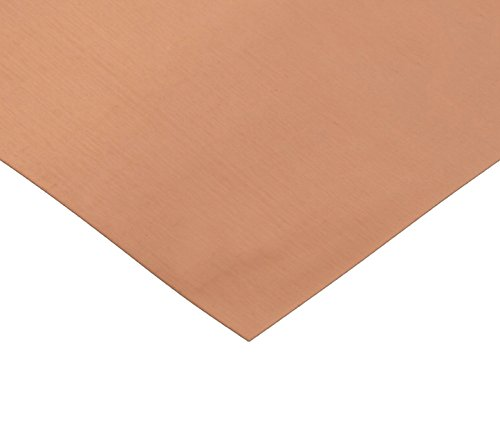 RMP 16 Oz. Copper Sheet - 5 Inch x 7 Inch x 0.021 Inch Thick, 1/8 Hd - PVC BOTH SIDES