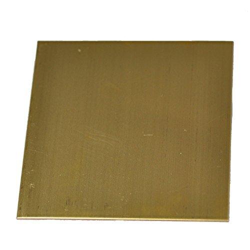 RMP 260 Brass Sheet, 12 Inch x 12 Inch x 0.032 Inch Thick - PVC BOTH SIDES