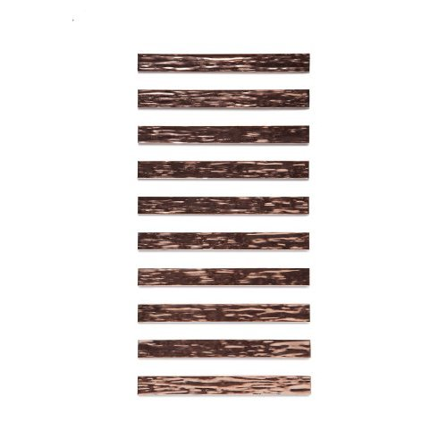 RMP Textured Bracelet Blanks, 5/8 Inch x 6 Inch Rectangle, 16 Oz. Copper 0.021 Inch (24 Ga.) - 10 Pack
