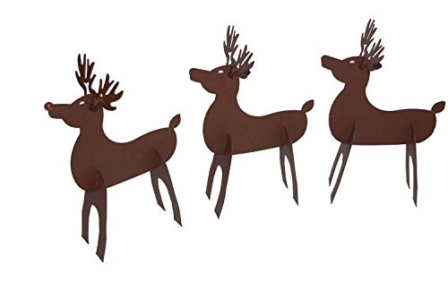 RMP Christmas Santa's Reindeer, Rustic Metal Slide-Together Reindeer