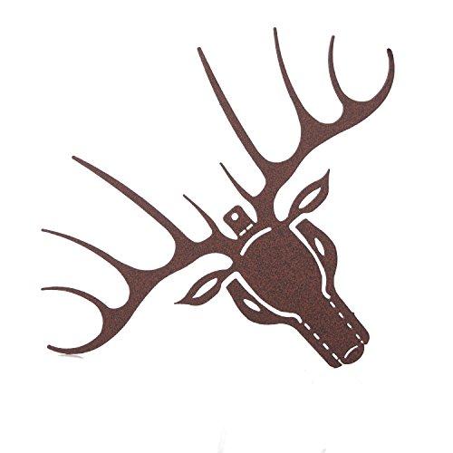 Rmp Deer Head Silhouette Ornament Brown 6 In Wide