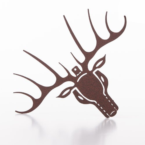 RMP Deer Head Silhouette Christmas Ornament, Brown 6 In. Wide